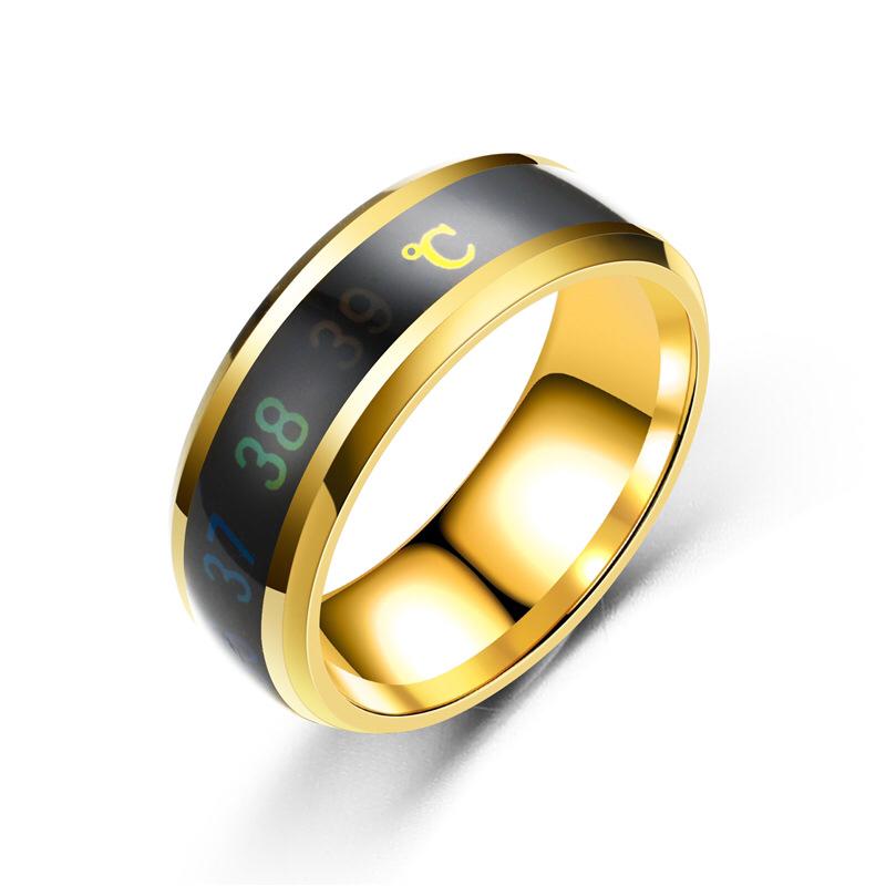 义乌网红情侣感温戒指、温度戒指、抖音温感戒指批发一件代发
