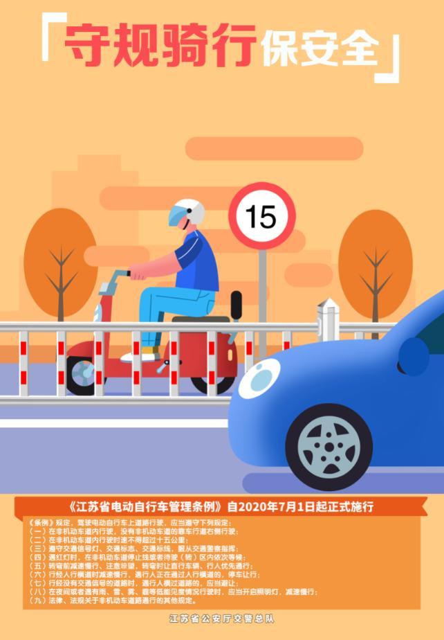 7.1江苏各市已经实行骑电动车戴头盔